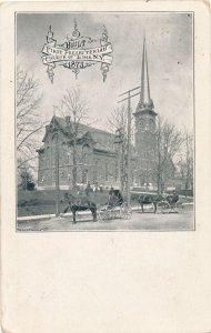 Lima NY, New York - First Presbyterian Church Built in 1873 - pm 1911 - DB