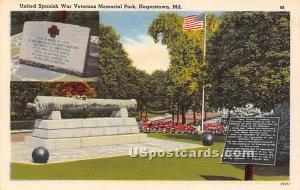 United Spanish War Veterans Memorial Park Hagerstown MD Unused