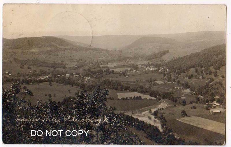RPPC, Aerial View, Petersburg NY