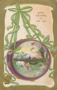 Many Returns of the Day - Greetings - Farming Scene - DB