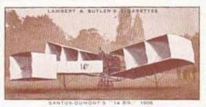 Lambert & Butler Vintage Cigarette Card History Of Aviation No 10 Santos-Dumo...