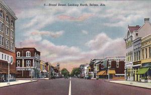 Alabama Selma Broad Street Looking North Curteich