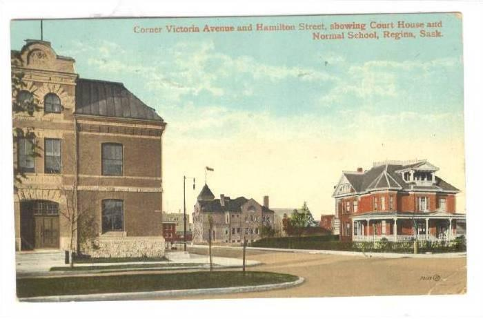 Corner Victoria Avenue and Hamilton Street, showing Court House and Normal Sc...