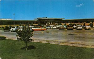 Sidney Nebraska~Memorial Hospital~Classic 50s Cars in Front~Dunlap-Henline Pc