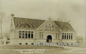Real Photo, Lithgow Public Library in Augusta, Maine