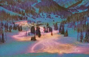 Canada Alberta Ski School Instructors Torchlit Parade Sunshine Village Banff