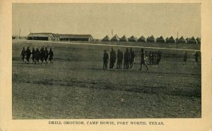 Camp Bowie Fort Worth Texas Simon C-1910 Drill Grounds Postcard 20-9356