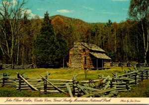 Great Smoky Mountains National Park Cades Cove John Oliver Cabin 1983