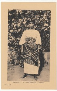 Benin; Dahomey, No 26, Porto Novo, A Native Dancer PPC, By ER, Unused, c 1920's