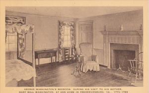 Virginia Fredericksburg George Washingtons Bedroom During His Visit To His Mo...