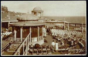 sussex, BEXHILL-on-SEA, Bandstand, Colonnade 1936 RPPC