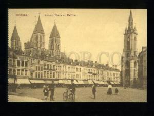 155342 Belgium TOURNAI Grand Place BOURSE Beffroi Belfry Old