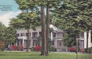 Commandant's Residence, FORT BENNING, Georgia, 30-40's