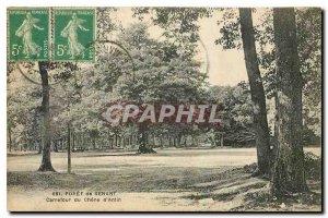 Old Postcard Foret Senart Carrefour du Chene d'Antin