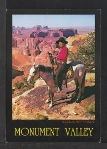 Navajo Horseman,Monument Valley,AZ Postcard