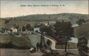 Buffalo Valley Between Wellsburg & Bethany WV c1910 Postcard