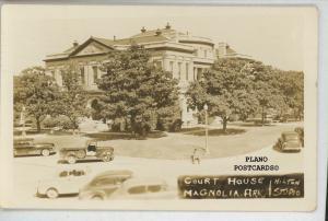 MAGNOLIA, ARKANSAS COURT HOUSE RPPC REAL PHOTO POSTCARD