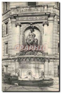 Paris Old Postcard Lion Fountain Cuvier