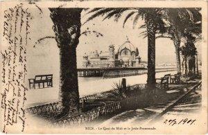 CPA Nice- Le Quai du Midi et la Jetee Promenade FRANCE (1042664)