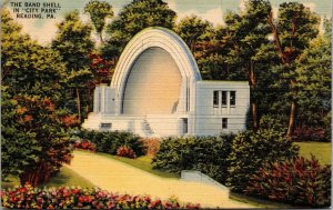 Postcard PA Pennsylvania Reading The Band Shell in City Park Unposted