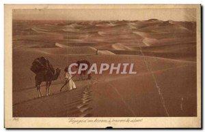 Old Postcard Travel & # 39un harem through the desert