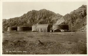 yemen, MAALA, Aden, Oil Tanks (1930s) RPPC