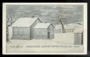 Honecker's Laxative Pepsin Pills unused c1910's