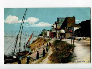 271008 EGYPT LUXOR Banks of Nile Vintage LL #10 postcard