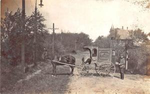 Cape Ann MA Cape Ann Fish Market Horse & Wagon At Hanes Street Postcard
