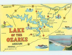 Unused Linen OZARKS Eldon & Camdenton & Lebanon & Bagnell Dam Missouri MO HM9304