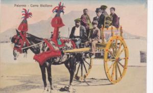 Italy Palermo Carro Siciliano Horse Drawn Cart
