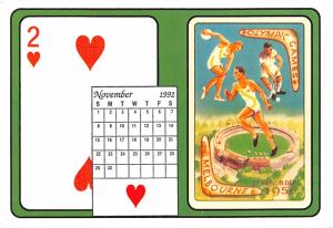 Playing Card Calendar - Melbourne