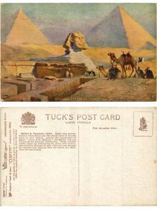 CPA EGYPT Sphinx & Pyramids Cairo (421374)