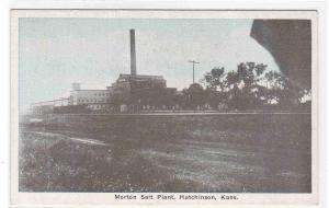 Morton Salt Plant Factory Hutchinson Kanasas 1920c postcard
