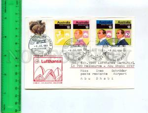 256036 GERMANY LUFTHANSA Sydney Abu Dhabi First flight 1989 ye