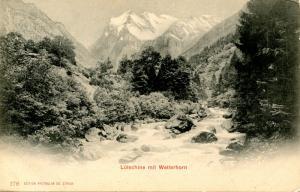 Switzerland - Lutschine mit Wetterhorn