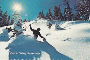 California South Lake Tahoe Powder Skiing At Heavenly Valley