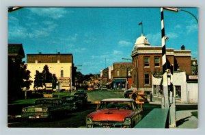 Wallaceburg ON, Street Scene, Chrome Ontario Canada Postcard