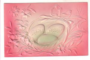 Deeply Embossed, Silkscreened, Pink, Easter Eggs, Same Design as pmk 76020