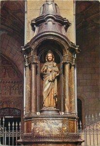 Religion Postcard Spain Vitoria Virgen Blanca estatua
