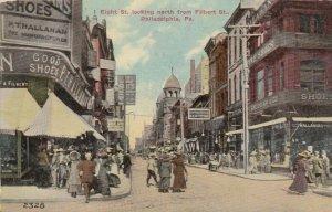 PHILADELPHIA , Pennsylvania , 1912 ; 8th Street North from Filbert Street