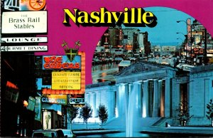 Tennessee Nashville Lower Broad Street Printer's Alley 1981