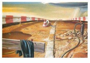 Painting author Postcard Bernd Hertel street