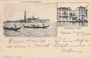VENEZIA, Veneto, Italy, PU-1900; Isola Di S. Giorgio Maggiore, Hotel Milan