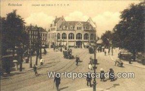 Slagveld met Station ZHESM Rotterdam Netherlands Unused