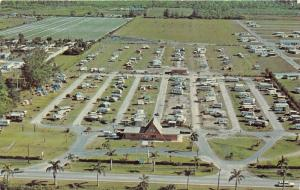 Ft Myers Florida~KOA Franchise Aerial View~Camp Ground~RV-Camper-Tent~1950s Pc