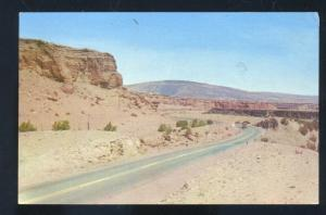 ALBUQUERQUE NEW MEXICO ROUTE 66 HIGHWAY SCENE WEST OF VINTAGE POSTCARD N.M