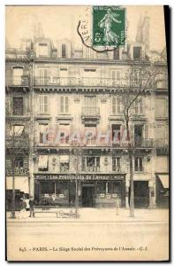 Old Postcard The insurance Paris head office of foresight of & # 39avenir