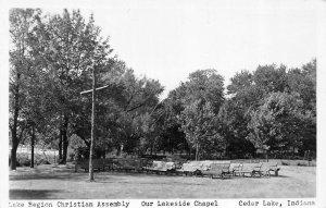 RPPC, Cedar Lake IN Indiana  LAKE REGION CHRISTIAN ASSEMBLY~Outdoor Chapel  1951