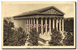 Old Postcard Paris Eglise De La Madeleine